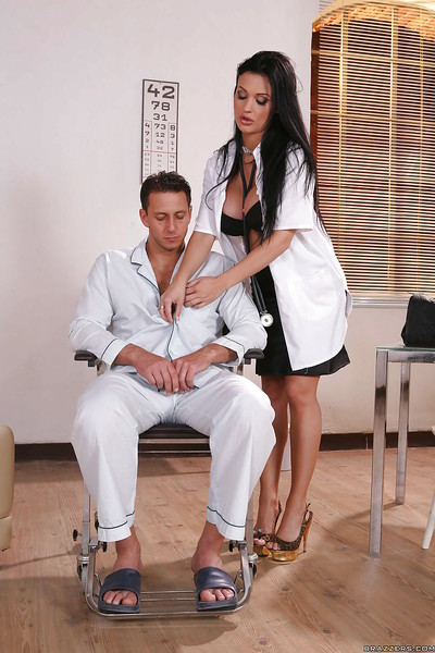 Curvy floozy in uniform Aletta Ocean has anal copulation with Nick Lang