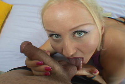 Big tit blonde accepts a creampied pussy