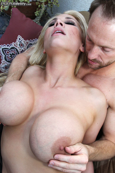 Alanah and her biggest tits are on hand for Ryan to fuck her wild.