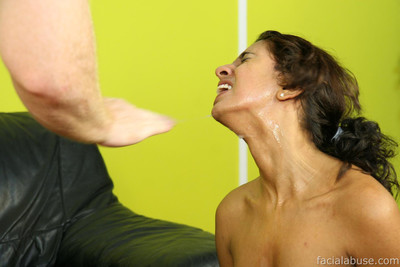 Amateur gets nasty facial cum flow