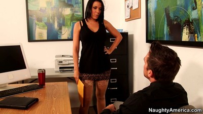 Office slut rachel starr takes a dick at work