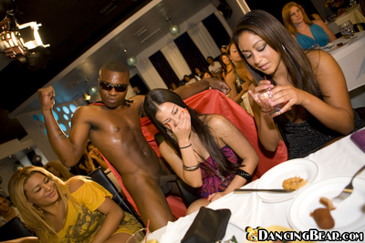 CFNM get-together with wild ladies doing blowjobs and handjobs to strippers