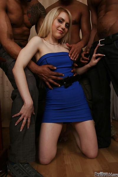 Interracial orgy with dick-sucking bleached slut Spice R