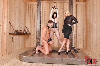 Milf Kathia Nobili and Lucia Love do all kind of nasty stuff with dick