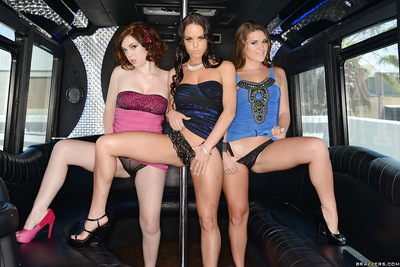 Stripteasers Abby Cross, Mary Jane Mayhem and Rahyndee James get naked