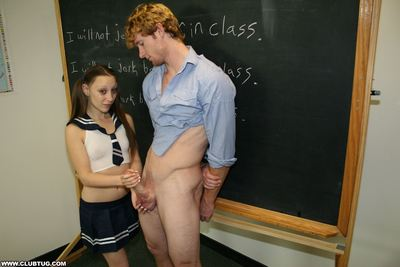 Schoolgirl teen Brandi fall in love with jerking off boys in genus