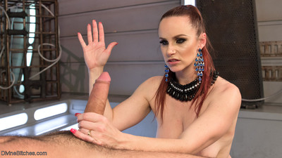 In this sci-fi styled update, latex-clad mistress bella rossi ties and teases he