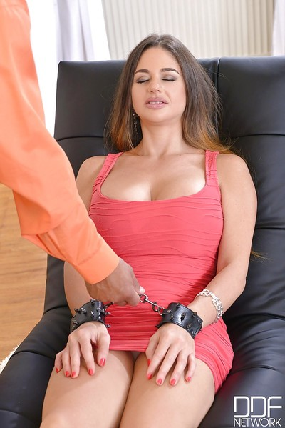 MILF Cathy Heaven is forced to deepthroat a large black cock