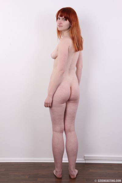 Amateur redhead babe in casting photos