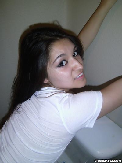 Hot latina chicito girlfriend shows tight twat and perky tits
