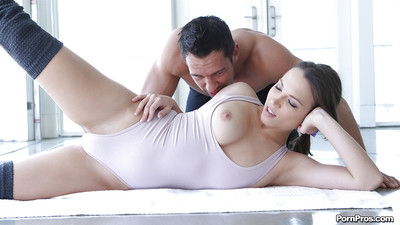 Desirable girlfriend Lily Love gobbles and fucks a rigid boner