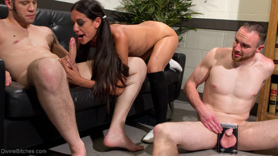 Welcome lyla storm to divine bitches! lyla comes on to her professor but soon fi