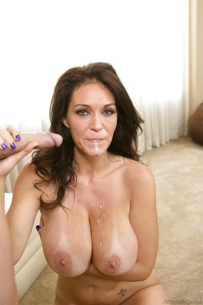 Cougar pornstar with brunette Charlee Chase enjoys hardcore sex
