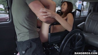 Kimberly costa obtains a emancipate ride in the gangbang bus