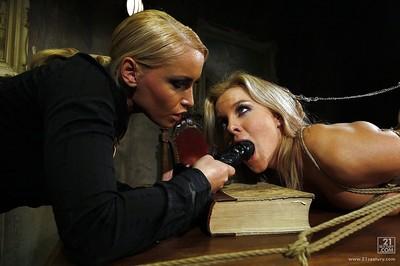 Moist  Kathia Nobili is toying her Salome to maximum torment