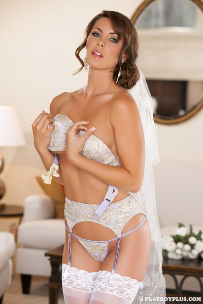 Playboy hotty showcasing her unblemished body for your approval