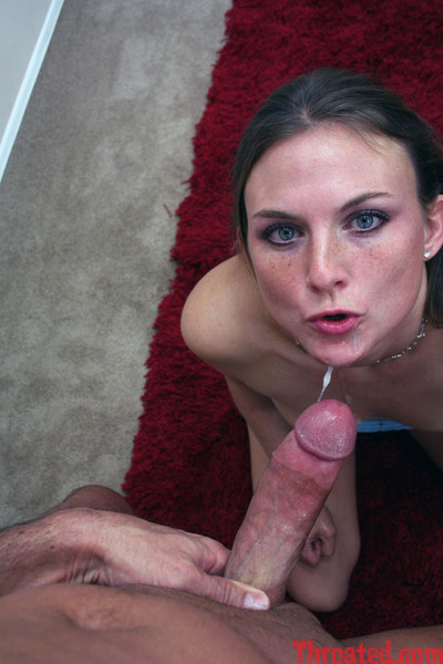Innocent looking heather gives nasty deepthroating