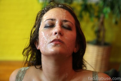Youthful gets nasty facial cumshot
