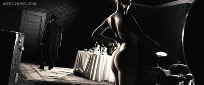 Sexual brunette eva mendes posing nude in the cinema in_the spirit