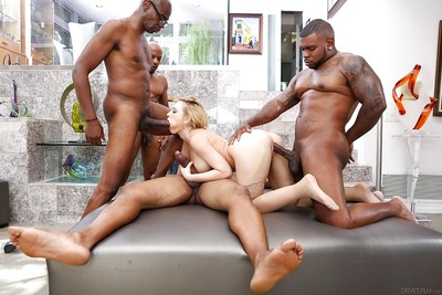 Insanely hardcore interracial gangbang with innocent Kagney Karter