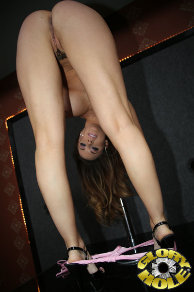 Chanel Preston fucks faceless black cock in a strip club.