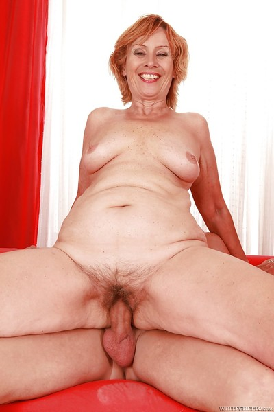 Lustful granny with flabby tits gives a cocksucking and gets fucked