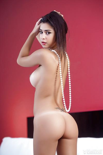 Brunette Lalin girl babe with big tits Celeste Sablich undressing