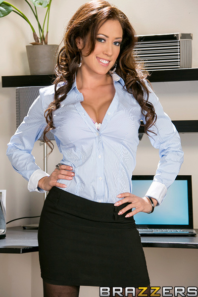 Office manager Capri Cavanni caught double of her employees talking dirty on the eye blinking time messager. Thats merely unacceptable behavior in the workplace. She called Keiran and Aleksa Nicole into her office to have a little chat and see if that bab
