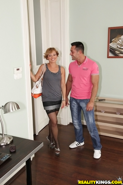Adorable MILF Szilvia Lauren gets her hairy muff licked and cocked up