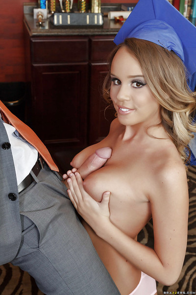 College chick Alexis Adams flashes her nice boobs and gives facefucking