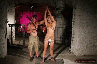 Hot MILF with big meatballs Klarisa Leone gets tortured and bonked
