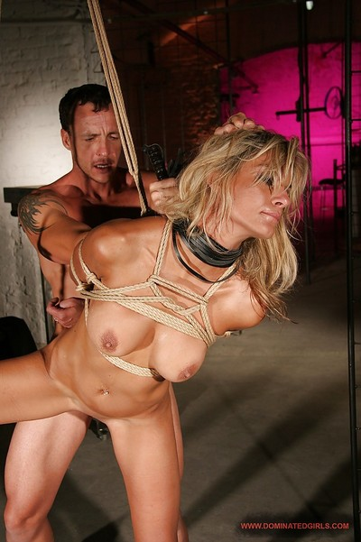 Hot MILF with big meatballs Klarisa Leone gets tortured and bonked