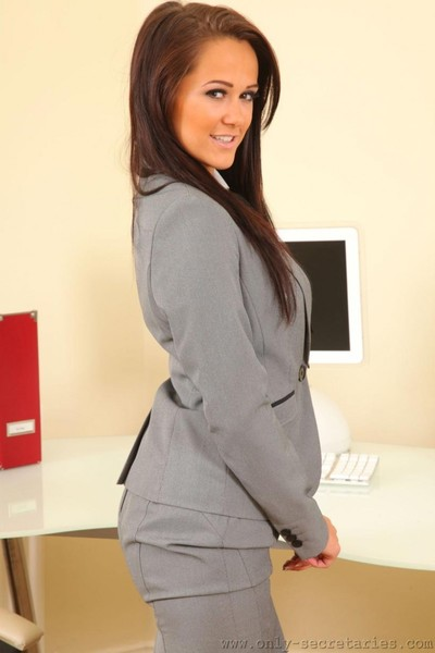 Hot office babe in