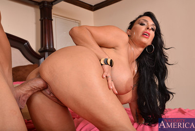 Holly Halston is a sweaty and lewd milf who settles on to fuck one of her sons friends.