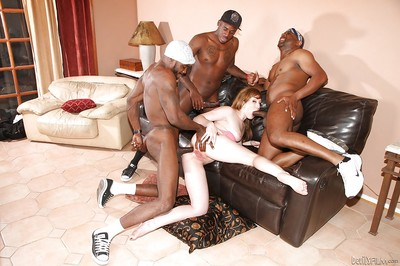Mammoth intense black dicks are fucking slender whitey gal Jennifer White