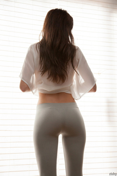 Young in yoga pants
