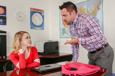 Coed advisor Alexia Gold benefits from fucked hardcore in the classroom