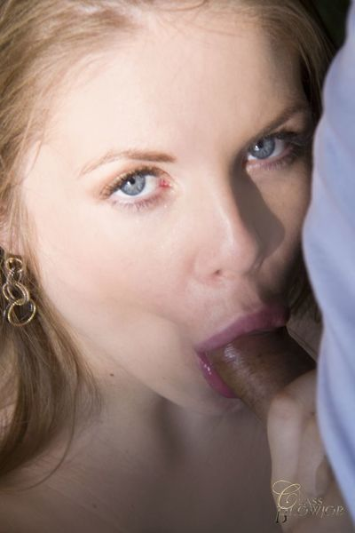 Commander fellatio and hot swallows with Alessandra Jane