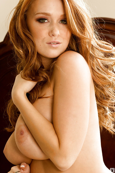 Tempting brunette with big tits Leanna Decker stripping off her clothes