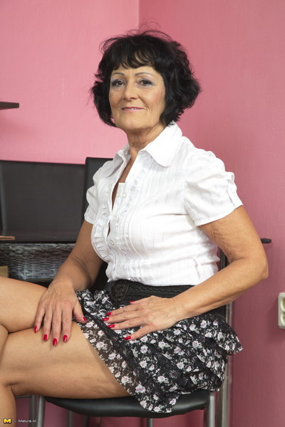 Sexually excited mature woman getting energetic