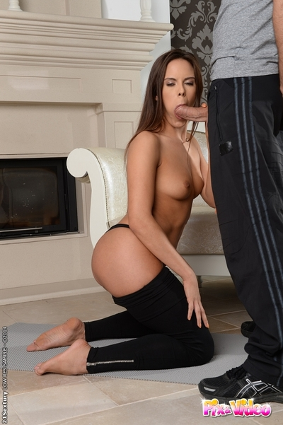 A-hole love making act features tiny tits European brunette Gala Brown
