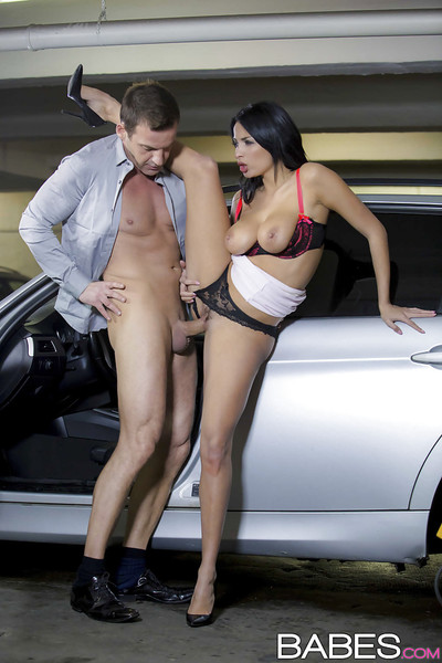 Euro pornstar Anissa Kate delightful knob in mouth and uterus in parking garage