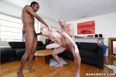 Petite fairy-haired young Piper Perri getting destroyed by two raw rods