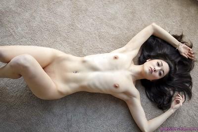 Asian chicito Elena Dobrev revealing tiny milk sacks and masturbating smooth head vagina