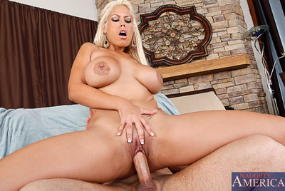 Busty latin chico Bridgette B sucks a vast cock