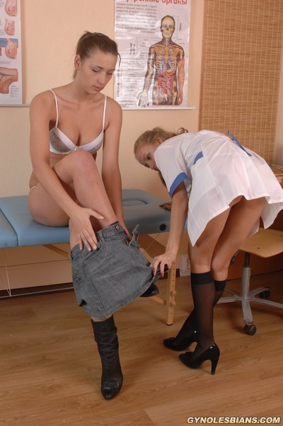 Young gyno patient seduced by a woman-on-woman