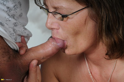 Horny housewife fucking her boy implement