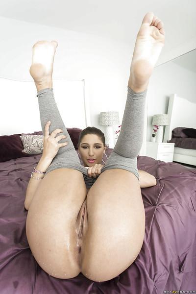 Lovely young dear Abella Danger presents her lewd fuckable body