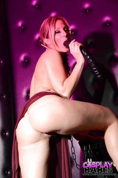 Lean gal Elizabeth Bally offers her amazing big boobies
