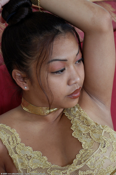 Infant Asian solo girl revealing big young tits in high heels
